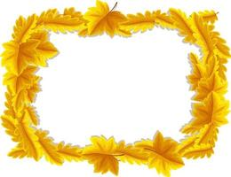 Blank banner with autumn leaves frame template vector