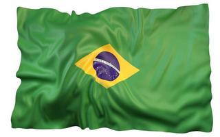 3d rendering brazil flag football soccer photo