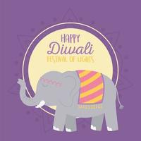 happy diwali festival, cultural celebration hindu vector design