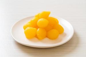 Sweet gold egg yolk drop photo