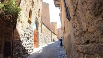 POV of walking in the village of Orvieto, Tuscany, Italy, Europe. video