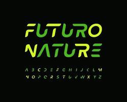 Futuro alphabet letter font. Modern technology logo typography. Minimal futurism vector typographic design. Future type for innovation tech logo, headline, title, monogram, lettering, branding