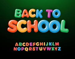 Back to school letters and numbers set. Kids education style alphabet. Font for events, promotions, logos, banner, monogram and poster. Vector typography design