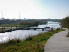 Still waters of the Llobregat river photo