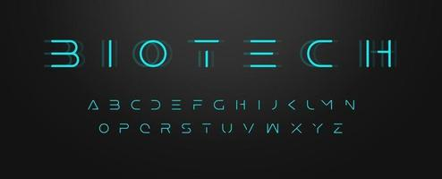 Futuristic letters, ultra slim font, contemporary type for gui and hud, thin sleek typography for innovate and future technology digital display. Minimal style letters, vector typographic design.