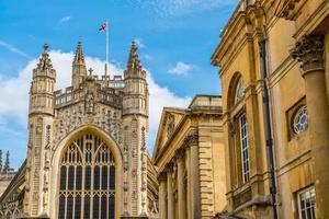La iglesia de la abadía de San Pedro y San Pablo, Bath, comúnmente conocida como la Abadía de Bath, Somerset, Inglaterra foto