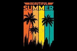 T-shirt beautiful summer retro vintage style vector