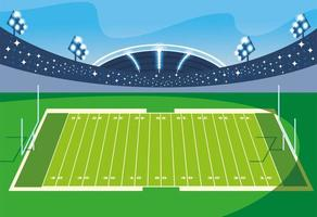 football stadium with lights, soccer game american vector
