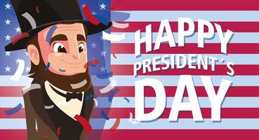 happy president day, president Abraham Lincoln vector
