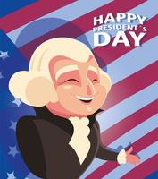 happy president day, president George Washington vector