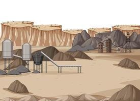 paisaje de la industria minera del carbón durante el día. vector