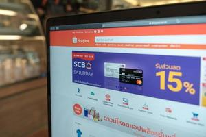 Chiang Mai, Thailand 2019-  Macbook Pro with Shopee website on the screen photo