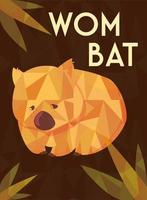greeting card with australian wombat vector