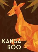 greeting card with australian kangaroo vector