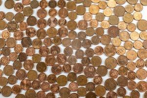 textura con monedas de céntimos de euro foto