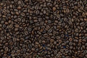 textura de granos de café tostados foto