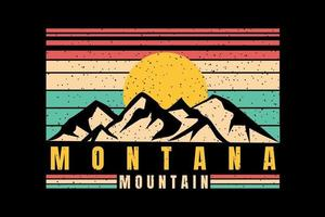 T-shirt silhouette mountain beautiful style vintage retro vector