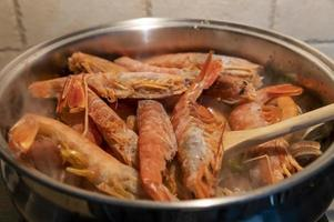 tomato fish soup with seafood photo