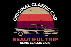 T-shirt hawaii original classic car beautiful trip retro vector