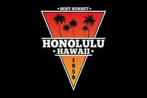 T-shirt hawaii beach best sunset vector