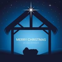 natividad, feliz navidad, niño jesús en el pesebre vector