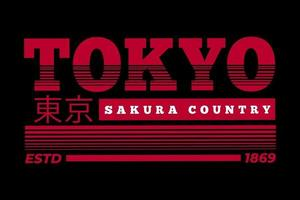 T-shirt tokyo skura country vintage design vector