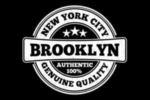 T-shirt typography brooklyn new york quality vintage style vector
