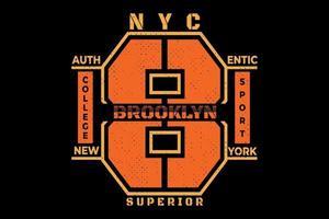 camiseta brooklyn superior sport college diseño vintage vector