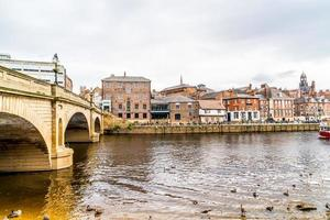 York, Yorkshire, United Kingdom - SEP 3, 2019 - York City with River Ouse in York UK. photo
