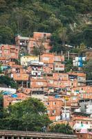 Slum of santa marta in rio de janeiro brazil photo