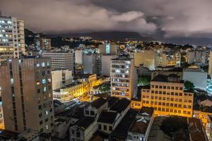 Night view from the top of a building in downtown rio de janeiro in brazil photo