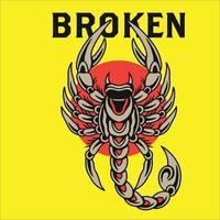 vector ilustration of scorpion logo