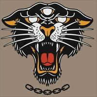 tiger head mascot or logo head black panther vector