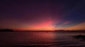 Sunset beach and twilight sky pattaya thailand. photo