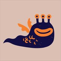 funny monster design flat vector