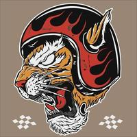 tiger head tattoo racing vector