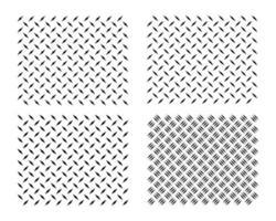 Fondo de textura de metal de placa de diamante. Patrón de textura de chapa de acero de diamante fuerte. vector