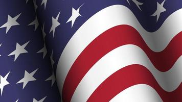 America flag background collection. Waving design. vector