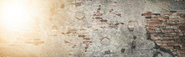 The Old brick wall pattern texture background. photo
