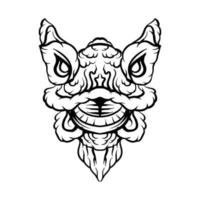 Lion dance illustration vector