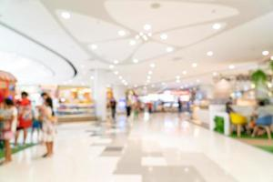 Abstract blur shopping mall or department store interior for background photo