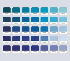 Blue Color Palette with Hex vector