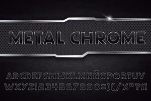 alfabeto de metal cromado vector