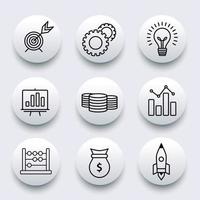 Business icon set collection vector