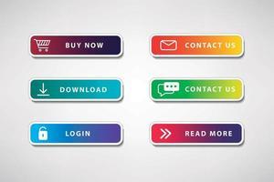 Button for website vector