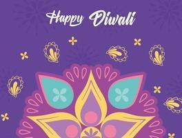 happy diwali festival, cultural event hindu light celebration, vector design