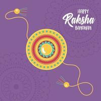 raksha bandhan, traditional indian wristband symbol of love between brothers and sisters vector