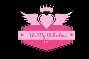 be my valentine color pink gradient vector