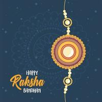 raksha bandhan, indian wristband symbol of love between brothers and sisters dark background vector