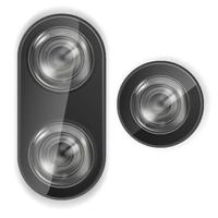 Realistic Smartphone Camera Lens Vector